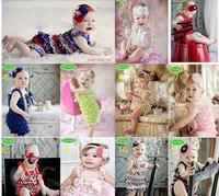 10Pcs/Lot Free Shipping 2013 new arrival Baby Headbands infant girls flower headbands with rhinestone Christmas gift headwear