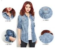 2013 new design fashion autumn slim denim jacket coat, thin vintage jean jacket outerwear, 2 color option