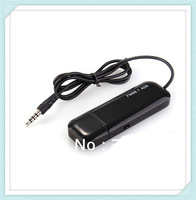 100piece/lot Universal 3.5mm Black FM Radio Transmitter for Cell Phone MP3
