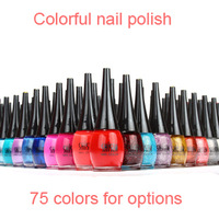 Free shipping Wholesale & retail original SHISEM nail polish 12pcs/lot 15ml quick-drying 75 colors available