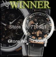Contact for Discount Cheap Shipping WINNER Watch 30pcs/lot Wholesale Handwind Skeleton Watch Fashion Mens Wristwatch,LLW-1124-30
