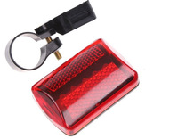 Free Shipping 5pcs/lot 5 LEDs Red Flashlight Bike Bicycle Tail Rear Light Lamp
