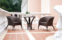 Leisure Cafe Rattan Armchair with Round Tea Table Stool Outdoor Furniture