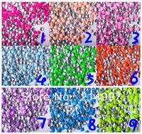 10000pcs/pack Punk Rock 2013 popular fluo stud Decoration sqaure shapes 3D Nail Art Tips Phone Design Decoration Freeshipping