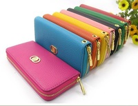 Free shipping litchi grain soft leather fashion lady single package zero wallet hand bag
