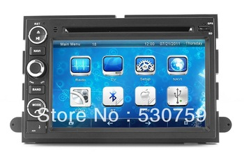 """7"""" 2Din InDash Car DVD Player GPS Navigation for Ford Explorer Edge Expedition with TV MAP USB Stereo Auto Video Radio Bluetooth"""