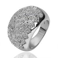 18KGP R091 Sawtooth 18K Platinum Plated RingJewelry Nickel Free KGolden Plating Platinum Rhinestone Austrian Crystal SWA Element