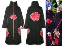 Free shipping!!! Naruto Akatsuki Cosplay Cloak Size S M L XL XXL  XXXL