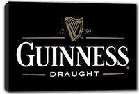 scrb009 Guinness Vintage Logo Beer Bar Stretched Canvas Print Sign