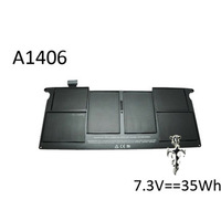 "For APPLE/Macbook Air 11"" A1406 battery 7.3V 35WH BLACK&EMS free shipping"