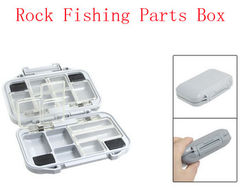 Light Gray Plastic Rock Fishing Parts Box for Fisherman