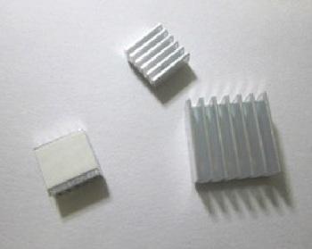 FREE SHIPPING [Raspberry PI] heatsink set,1x 14*14*6 plus 2x 10*10*6, with self adhesive tape