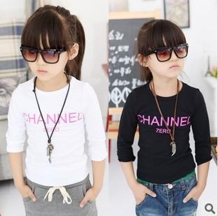New 1 pcs baby boy girl t shirt kids Children Tops Tees Summer Wear Long Sleeve children clothes letter tshirts girl kids