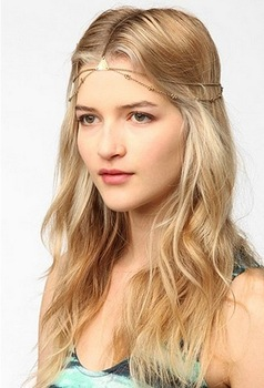 Uo urban outfitters geo goddess metal chain sweet hair accessory