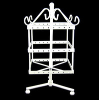 2014 new Iron square 96 earrings stud earring rotating display rack princess jewelry holder display rack
