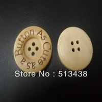 100pcs 25mm New design cute buttons  woodwork  round natural wood buttons , DIY  crafts /sewing/ scrapbooking
