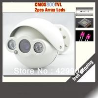 Free shipping 800TVL CMOS IR-CUT Filter  outdoor/indoor waterproof HD CCTV Camera 2pcs Array IR LED with 360 degree bracket.