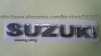 free shipping 1pcs 3D Chrome letter Auto Car Badge Emblem for SUZUKI letter stick letter car emblem