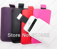 Free Shipping Hot Sale Fashion 5 Colors PU Leather Bag Wallet Case Cover Shell For Apple iPhone 4 4G 4GS 5 Wholesale 5 PCS