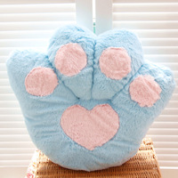 Plush bear paw cushion pillow Large toys kaozhen cushion gift big animal