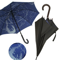 Constellation umbrella large hook long-handled umbrella super windproof double layer sun umbrella anti-uv protection