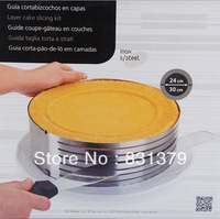 FREE shipping retractable stainless steel circle mousse ring baking tool set cake mould mold size adjustable 24-30cm bakeware