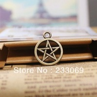 50pcs 21mm Fashion Jewelry Charms Vintage Bronze Metal Pentagram Jewelry Pendants Charms Findings