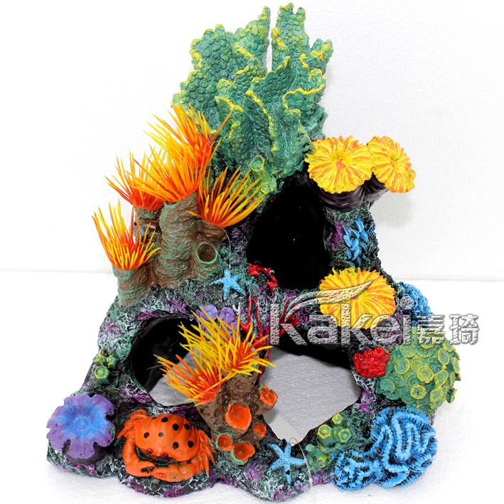 Fish tank aquarium large and small fashion decoration rockery coral