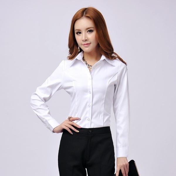 Womens White Blouses For Work 116