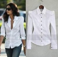 Shoulder pads handsome shirt black white 2