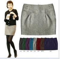 Elegant elegant chromophous slim bud skirt short skirt multicolor
