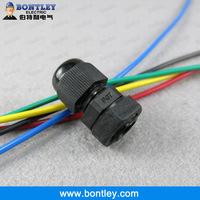 Free Shipping UL Approved , IP68 Protection Grade , RAL9005 Black PG7 Nylon Cable Glands For 3-6.5mm