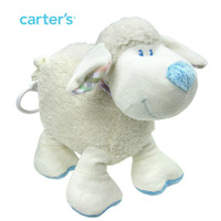 Carter's Multi-fonction White Animal Sheep Car Bed Handing Baby Soft Pacify Plush Toys Dolls Kids Gift