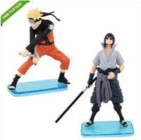Free Shipping High Quality Japanese Anime 2x NARUTO Uzumaki Sasuke 10.5-14cm Figure Set of 2PCS nice Gift