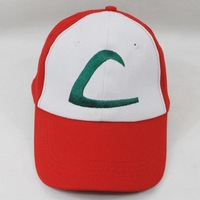 Free shipping 200PCS/Lot NEW POKEMON ASH KETCHUM COSTUME COSPLAY MESH CAP HAT Pokemon mesh ASH baseball hat