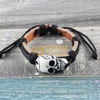 12pcs Cheap Sales Nepal Jewelry Cowhide Bracelet Recommend Genuine Leather Bangle Skeleton B0194