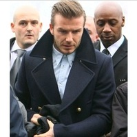 Hot-selling 2013 double breasted trench male medium-long trench beckham trench male woolen outerwear male