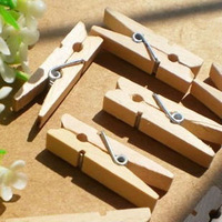 500Pcs/Lot Mini Wooden Clips Natural Paper Photo Clips Bookmark Clothes Pegs Pins Wholesale 80332