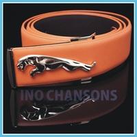 Retail High Quality Jaguar buckle,Black Elegant Pattern Genuine Leather Men's Belts,Men And Women Luxury Belt Free shipping