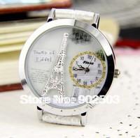 Fashion women's quartz Watch, Creative 3D Eiffel Tower Model in