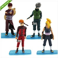 Free Shipping High Quality Japanese Anime 4x NARUTO Uzumaki Kakashi Figure Set of 4PCS #31