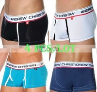 Free Shipping!!-4 PCS/LOT AC Boxer Briefs/Mens briefs/Men's Briefs Shorts/4 Colors