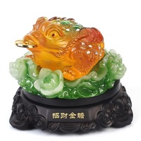 Toad lucky decoration Large opening gifts three legged toad pi xiu resin decoration