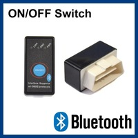 10pcs/lot ELM327 Bluetooth OBD II Scanner with Switch OBD2 Scan Tool Wireless Diagnostic Tool support Andorid
