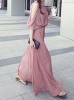 clean stock!  Bohemia elegant office lady chiffon one-piece beach dress full dress, good quality dress,