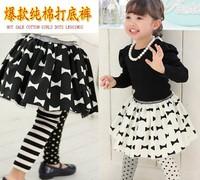 Hot Sale baby girls dots cotton fashion leggings striped cartoon autumn kids legging children leggings wholesale 5PCS
