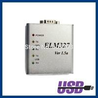 10pcs/lot ELM327 USB OBD II Scanner Aluminum case OBD2 Scan Tool Diagnostic Tool