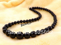 "Min.order is $10 Free shipping! 18"" Children Necklace Black Acrylic Beaded Necklace Kindergarten Necklace"
