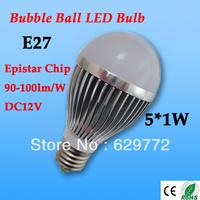 free shipping hot DC12V LED Bulb 3W/5w/7w/9w/12w high power bubble ball led lamp Epistar Chip high brightness energy saving CE