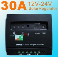 Hot Sale!30A 12V 24V Solar Charge Controller Fit regulator Solar panel Battery charge regulator